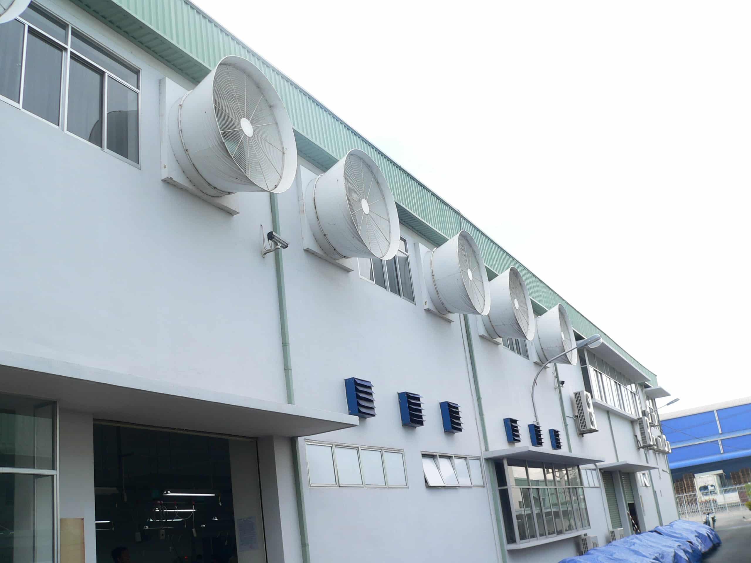 Những hệ thống thông gió nhà xưởng phổ biến