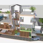 Thiết kế nhà lệch tầng mang lại lợi ích gì?