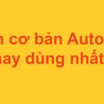 AutoCAD – Các lệnh hay sử dụng trong cad cơ bản nhất