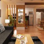 Mẹo thiết kế phòng khách liên thông nhà bếp tiện ích nhất