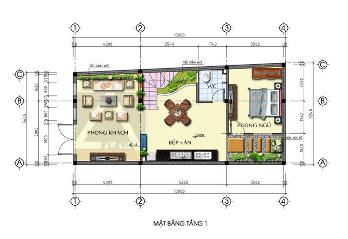 Tư vấn thiết kế nhà trên đất hình thang ấn tượng