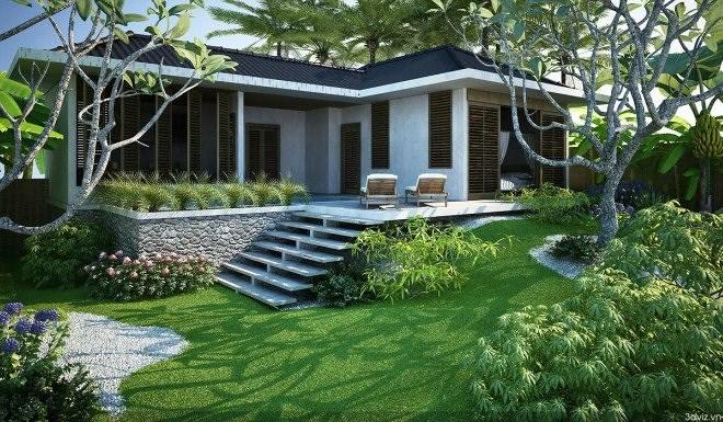 Thiết kế nhà biệt thự vườn – Xu hướng mới hiện nay