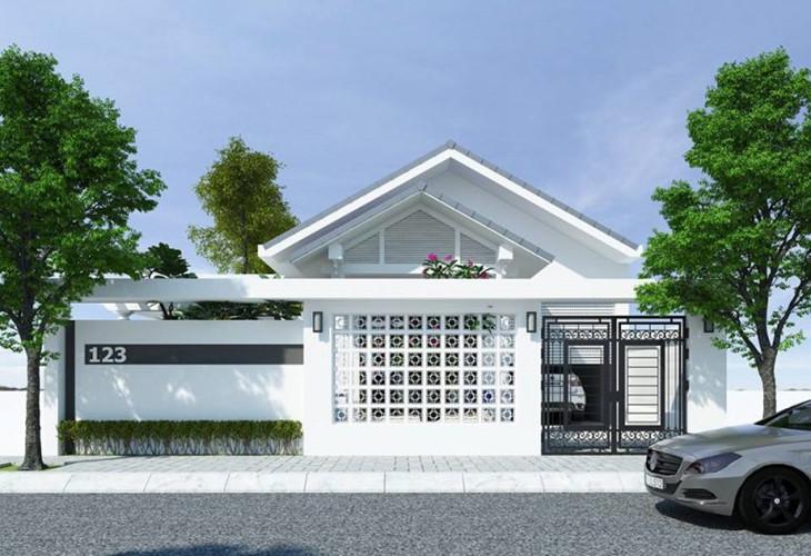 Ý tưởng thiết kế biệt thự mini cấp 4 hiện đại với sân vườn