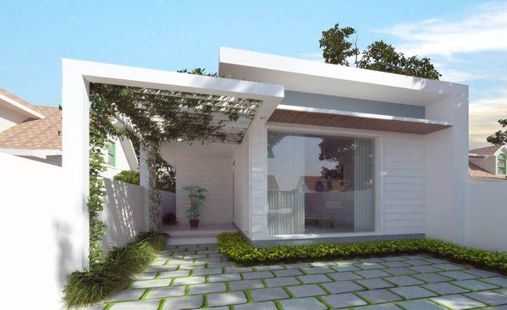 3 mẫu nhà mái bằng 1 tầng cho vợ chồng trẻ