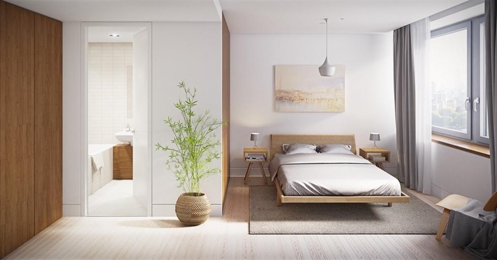 Thiết kế toilet trong phòng ngủ hợp phong thủy