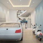 Làm thế nào để thiết kế gara ô tô trong nhà hợp phong thủy?
