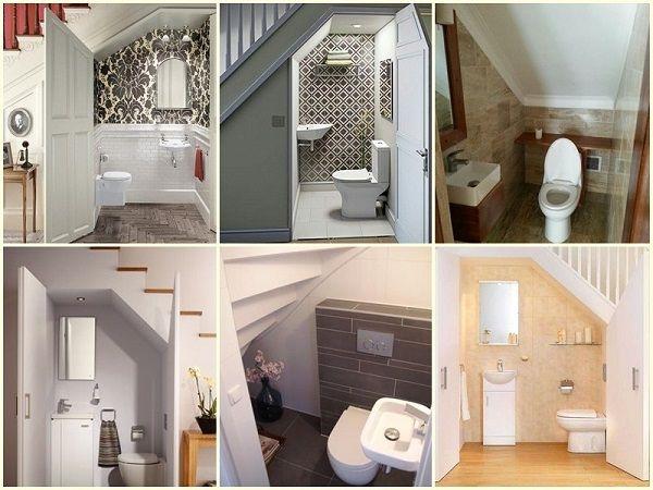Ưu điểm và nhược điểm khi thiết kế toilet dưới cầu thang