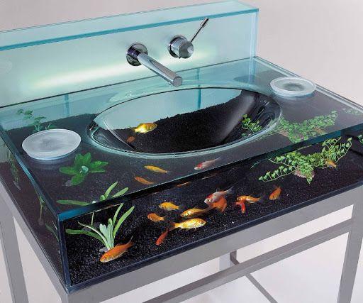 vị trí đặt hồ cá trong nhà ở nhà vệ sinh