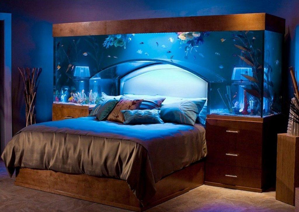 vị trí đặt hồ cá trong nhà ở phòng ngủ