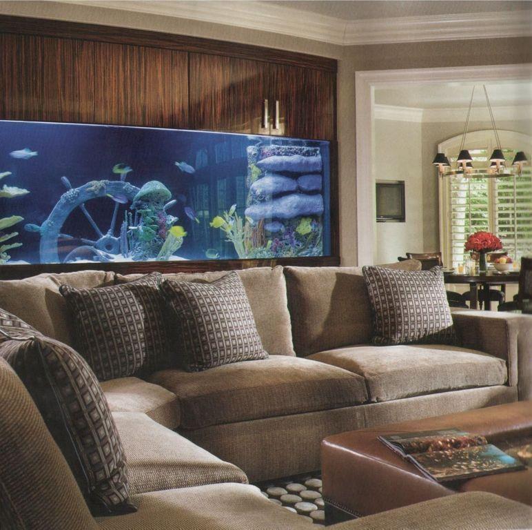 vị trí đặt hồ cá trong nhà sau salon