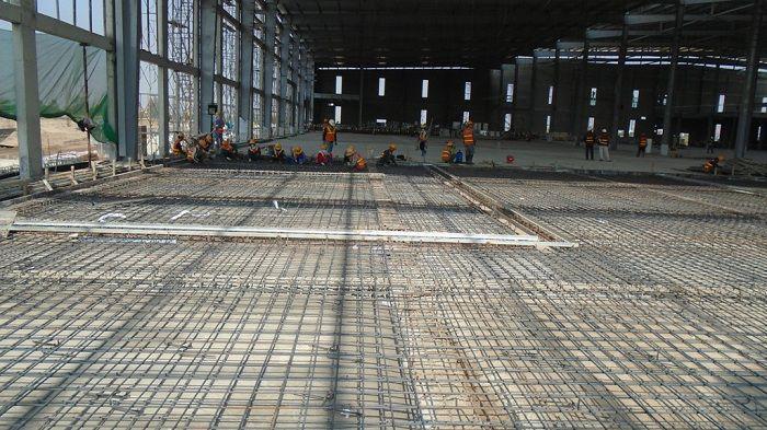 thi công thép sàn tại công trình công nghiệp