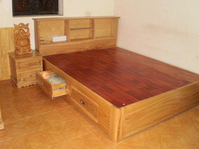 giường gỗ Lim 1